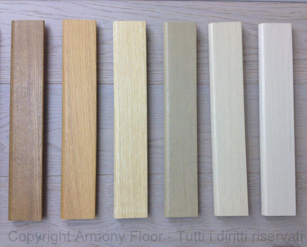 Battiscopa in rovere costo al mq parquet armony floor for Battiscopa in legno bianco