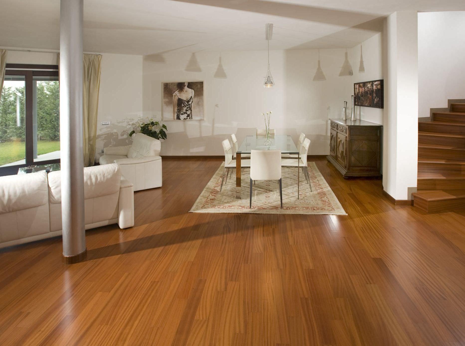 Parquet Spazzolato O Liscio parquet teak, pavimenti legno teak: posa incollata