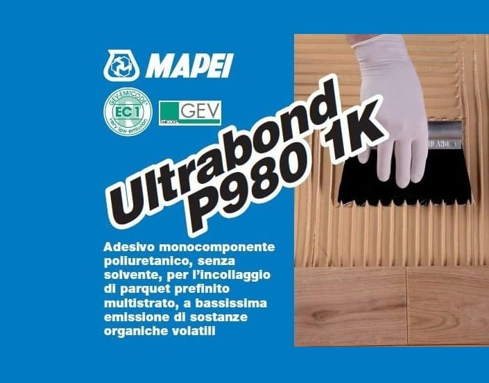 Colla monocomponente parquet mapei ultrabond p980 for Parquet armony floor