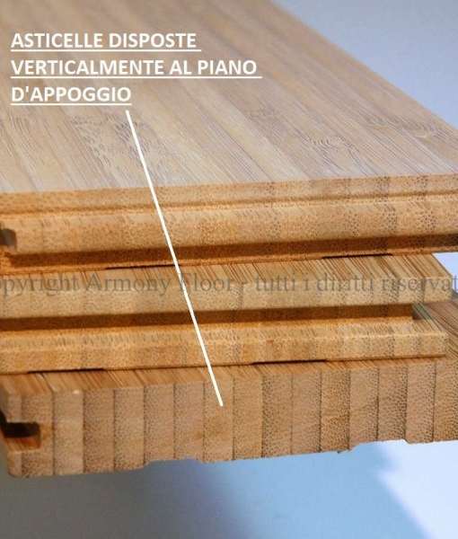 Parquet bamboo prelevigato verticale carbonizzato costo for Parquet armony floor
